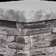 Cap for Column Pedestal | Slate (Burnt Slate & Charcoal) - cap18x18-slate - 16918-en - 16962 - box-of-2-en