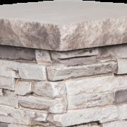 Chapiteau pour piédestal de colonne | Gris naturel (& Mocha) - chapiteau-18-x-18-gris-naturel - 16998 - 16866 - boite-de-2