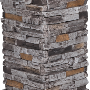 Dry Stack Stone | Burnt Slate - pedestal-column - 16926 - 16970 - box-of-2-en