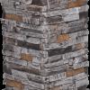 Pierres sans joints | Ardoise brûlée - piedestal-de-colonne - 16836 - 16874 - boite-de-2