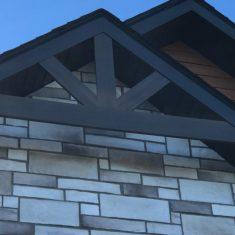 Revêtement extérieur de maison et Ornement architectural de maison